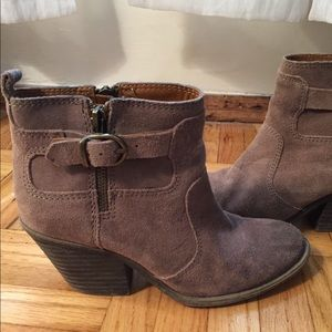 Lucky suede booties size 6